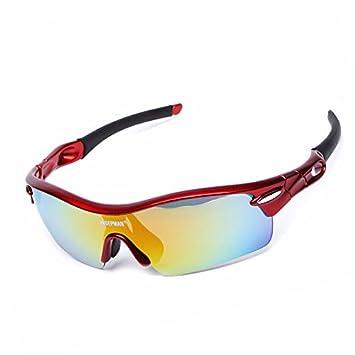 6a4fe8831e Fecihor Protección UV400 Gafas de Sol Polarizado Deporte al Aire Libre Gafas  Ciclismo Correr Pesca Conducción