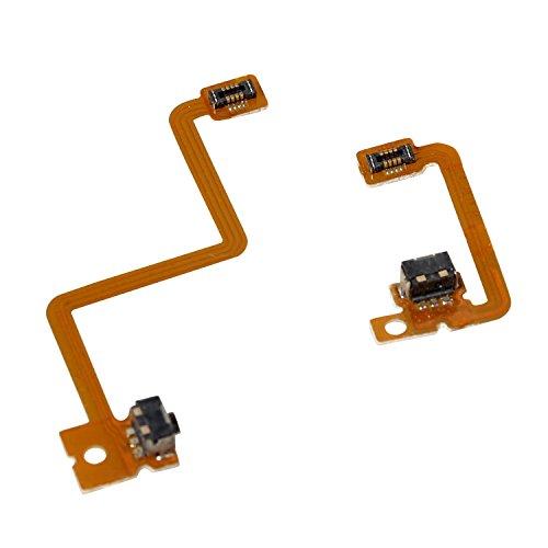 Timorn L R Shoulder Button with Flex Cable Repair Parts for Nintendo 3DS Left Right Shoulder Button (2 Sets) (3ds Replacement Parts)