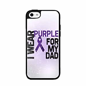 I Wear Purple For My Dad Plastic Phone Case Back Cover iPhone 5c