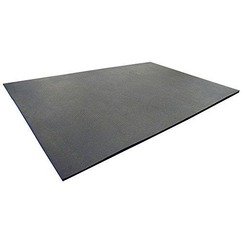 (Rubber-Cal Maxx Tuff Heavy Duty Protective Mat, Black, 12mm x 2 x 3-Feet)