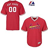 New V-Neck St. Louis Cardinals CUSTOM (Name/# on Back) or Blank Back MLB On Field Cool-base Pro Length Full Athletic Cut Uniform Jersey