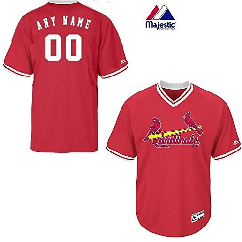Youth Medium St. Louis Cardinals CUSTOM (Any Name/# on Back) Major League Baseball Cool-Base V-Neck Jersey
