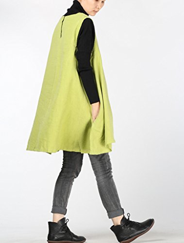MatchLife - Camiseta sin mangas - para mujer Yellow Green