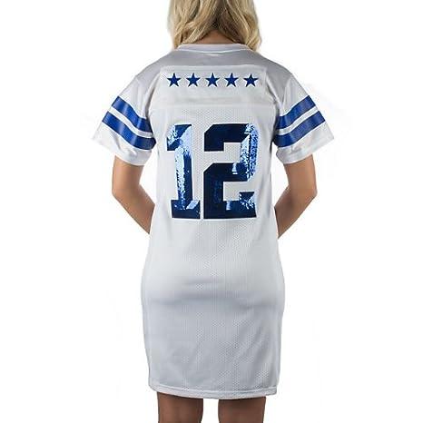4b484bbba90 Amazon.com : Dallas Cowboys Women's Viola Jersey Dress White X-Large :  Sports Fan Apparel : Sports & Outdoors