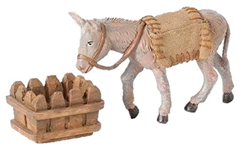 Fontanini Mary's Donkey Animal Italian Nativity Village Figurine 3 Piece Set ()