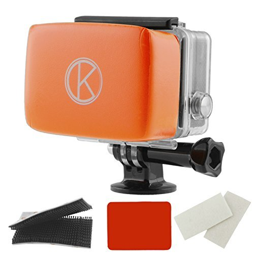 CamKix Floater for GoPro Hero - Removable Float for GoPro Housing Backdoor - Includes Waterproof Adhesive, Waterproof hook-and-loop tape, 1 Pair of Anti-Fog Inserts - Compatible with GoPro Hero 4, 3+,