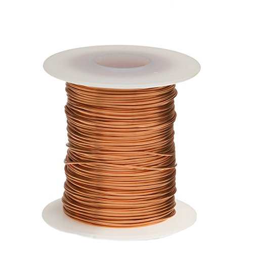 Bare Copper Wire, Buss Wire, 26 AWG, 250' Length, 0.0159'' Diameter, Natural by Remington Industries
