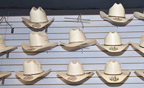 Slatwall Western Hat Wide Brim Slat Panel Display Retail Store Fixture CHROME Lot of 48 NEW