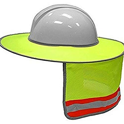 - SODIAL Construction Safety Hard Hat Neck Shield Helmet Sun Shade Reflective Stripe Kit(Yellow)