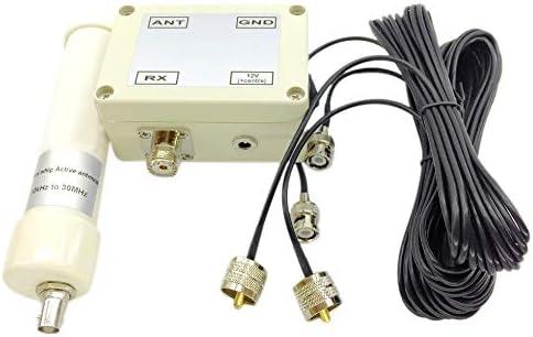 TOOGOO Activo Antena 10Khz a 30Mhz Whip Hf Lf Vlf VHF Sdr RX con Cable Portátil