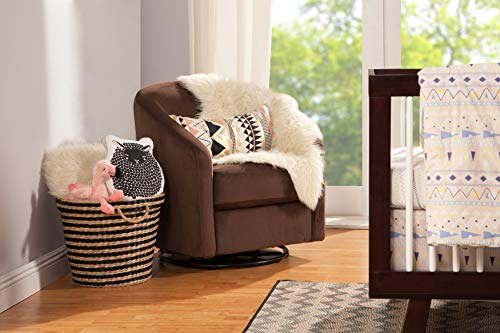 Babyletto Madison Swivel Glider, Mocha Microsuede