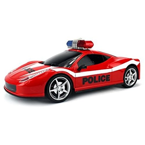 Adjustable Front Wheel Alignment Police Remote Control Car (Colors May Vary)