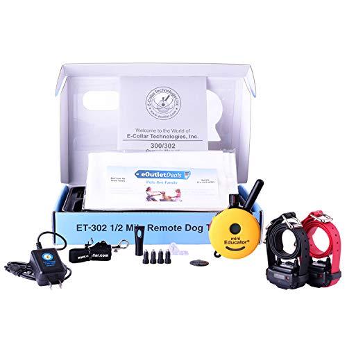 Mini Educator E-Collar ET-300 / ET-302 Dog Training Collar System with Remote – 1/2 Mile Range – Waterproof, Vibration…