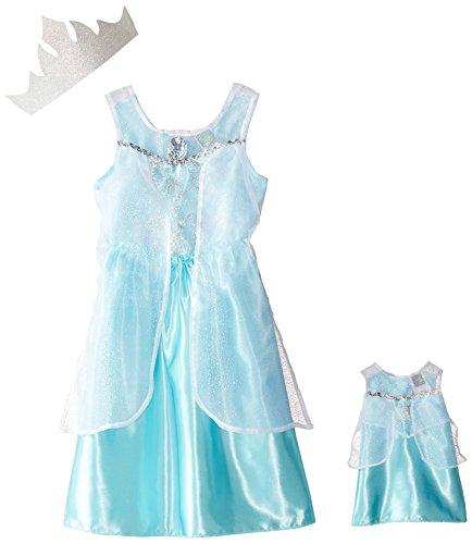 Dollie & Me Little Girls' Ice Princess Dress-Up Outfit and Matching Doll Dress