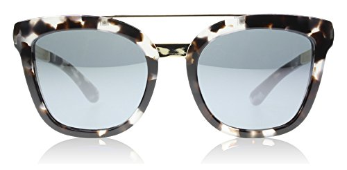 D&G Dolce & Gabbana Women's 0DG4269 Square Sunglasses, Cube Havana/Fog Grey/Mirror Black, 54 - Cat Eye Sunglasses D&g