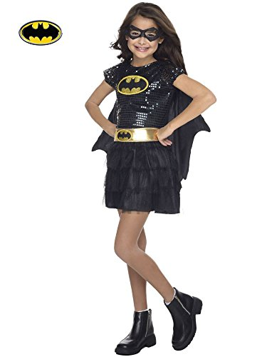 Rubie's Costume DC Superheroes Batgirl Sequin Dress Child Costume