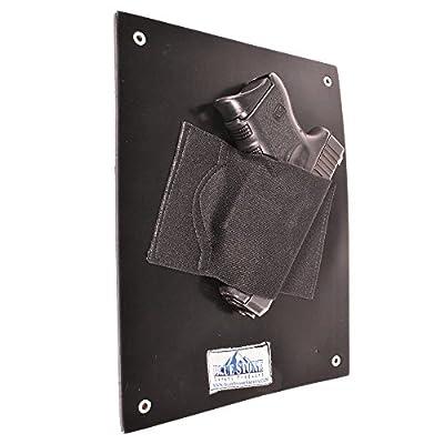 BlueStone Safety Under the Desk Holster| Bedside Holster| Wall Mounted Tactical Gun Holster| Under the Desk Pistol Gun Holder| Fits Nearly Any Handgun