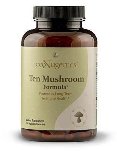 - EcoNugenics – Ten Mushroom Formula – 120 Capsules | Comprehensive Blend of Organic Medicinal Mushrooms | Supports Immune System & Total Body Health