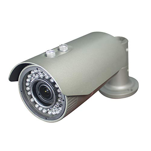 Sinis 1080P 2mp HD CMOS Sensor TVI/AHD/CVI/960H Bullet Analog CCTV Camera, Full HD Waterproof Surveillance Security Outdoor 2.8-12mm Varifocal Lens,42 IR LEDs,Metal Grey Housing Case ()