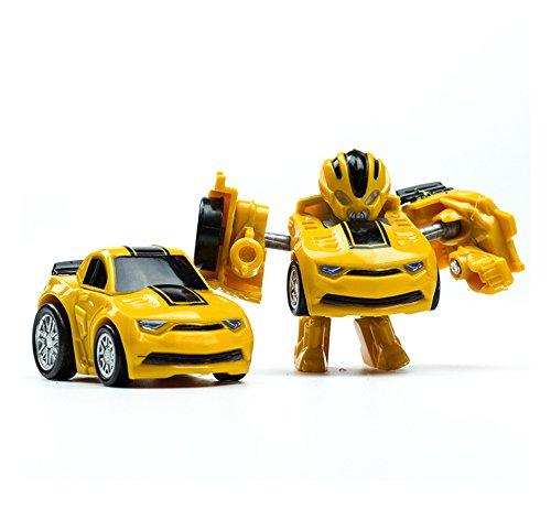 車おもちゃ ポケット変換ロボットかわいいミニ変形車モデルのおもちゃの男の子のためのギフト