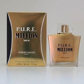 PURE P.U.R.E. MILLION by Giorgio Valenti 3.3 3.4 oz edt Cologne * New In Box