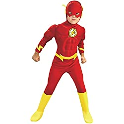 DC Comics Deluxe Muscle Chest The Flash Costume, Small