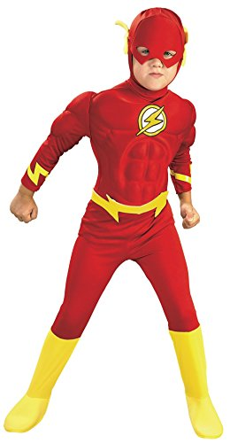 Rubie's DC Comics Deluxe Muscle Chest The Flash Child's Costume, Small]()