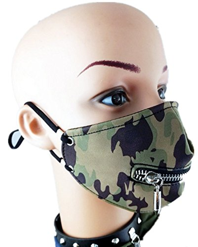 Qiu ping Men and women New Tide Camouflage Stage Mask Personality Motorcycle Masks by Qiu ping