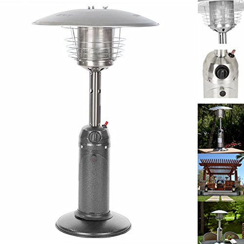 Stainless Steel Tabletop Outdoor Garden Patio Heater- Hammered Bronze Silver Black (Hammered Silver)