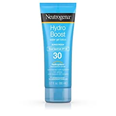 Neutrogena Hydro Boost Water Gel Lotion Sunscreen with SPF 30 delivers superior broad spectrum UVA/UVB protection with a water-light, refreshing feel. Perfect for daily use, this non-greasy sunscreen layers invisibly under makeup and feels so...