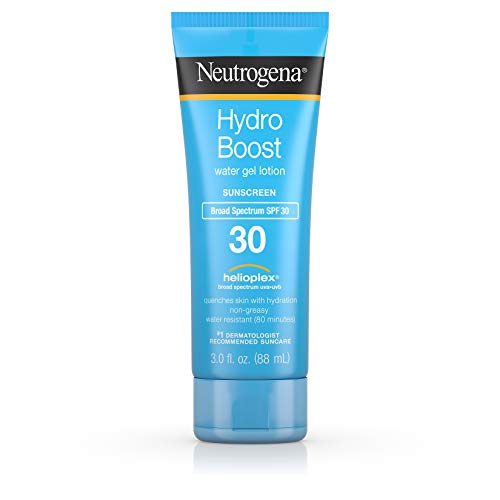 Neutrogena Hydro Boost Water Gel Non-Greasy Moisturizing Sunscreen Lotion with Broad Spectrum SPF 30, Water-Resistant, 3 fl. oz (Pack of 3)