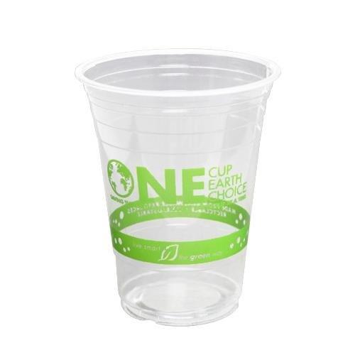 Karat Earth 16oz Clear Eco-Friendly PLA Cups with Stock Print - 98mm, 1000 Pcs KE-KC16G