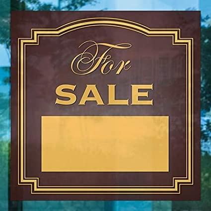 24x24 5-Pack Classic Brown Window Cling for Sale CGSignLab