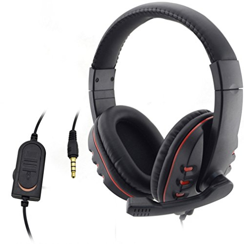 Gaming Headset,OCDAY 3.5mm Wired Over-head Stereo Gaming Headset Headphone with Mic Microphone, Volume Control for SONY PS4 PC Tablet Laptop Smartphone Xbox One