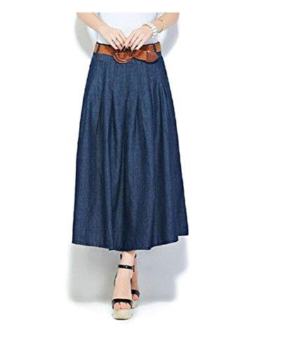 Mcdslrgo - Falda - trapecio - para mujer Azul