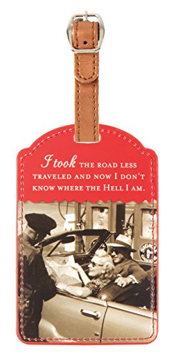 Shannon Martin Design Luggage Tag, Less (Retro Luggage Tag)