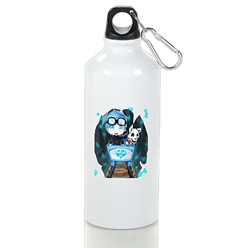 Katie P. Hunt COOL DANTDM Particular Exercise White Sports Water Bottles Aluminum With Carabiner Birthday Sigg Water Bottle