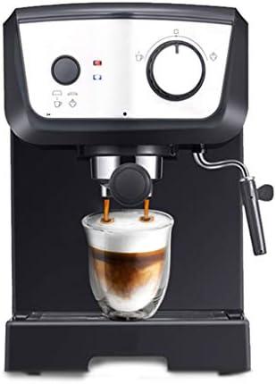 W.zz Espressomaschine Halbautomatische 15 Bar Cappuccino-Maschine Mit Milchaufschäumer 1,25 L Abnehmbarem Wassertank Und Doppeltemperaturregelsystem Für Home Office Schwarz