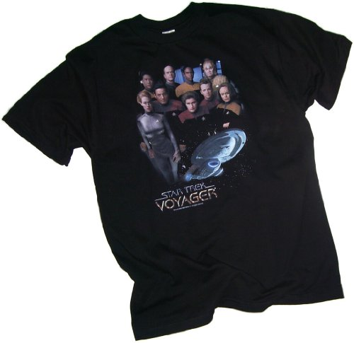 Star Trek: Voyager Crew Adult T-Shirt, Small