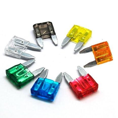 120 x Mini Fusible Coche para sacar Hoja de Fusibles Estandar 5A 7,5A 10A 15A 20A 25A 30A BESTEK: Amazon.es: Hogar