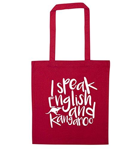 English I speak Red kangaroo bag tote I and speak zwtpqHxvwa