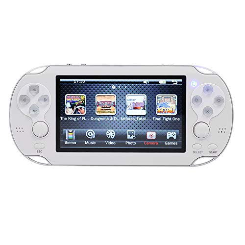 Goolsky V8 携帯ゲーム機 多機能 ハンドヘルドゲームプレイヤー 8GB 内蔵400ゲーム ゲームコンソール ダブルロッカー 4.3 `スクリーン MP4 プレーヤー カメラ機能 AVアウト サポート(多言語対応 日本語 中国語 英語)