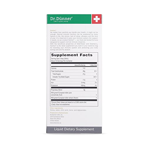 Dr.Dünner Sambu Elderberry Syrup with Elderflower, 17-Ounces by Dr. Dunner. (Image #2)
