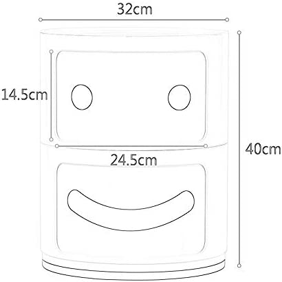 WJ ベッドサイドテーブル、二層多用途のシンプルな収納ロッカークリエイティブシンプルなミニ棚、のために適した:リビングルーム/ベッドルーム/書斎/キッチン、利用できる4色 /-/ (Color : Red)