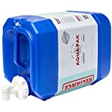 Reliance Products Aqua-Pak 5 Gallon Rigid Water Container, Blue, 11.5 Inch x 9.1 Inch x 15.4 Inch