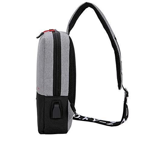 Wind USB de Viento Bolso Goal negro con de Camping Hombro Negro Ciclismo de Ligera Pecho de Bandolera Bolso Puerto Senderismo Mochila Cruzado Carga para rWTpr5nIxw