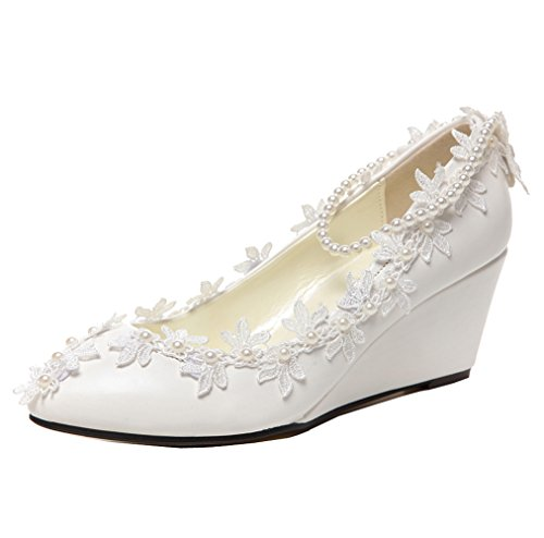 Wedding Shoes Wedges - 6