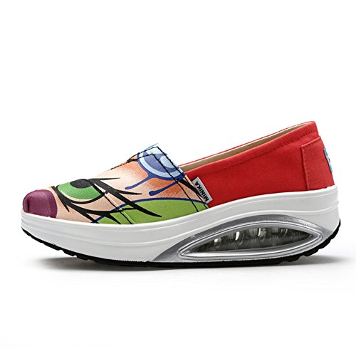 On Red Travel Casual Sneakers Softthick Btrada Slip Shoes Fashion By Base Waking Shoes Womens qwp1pI