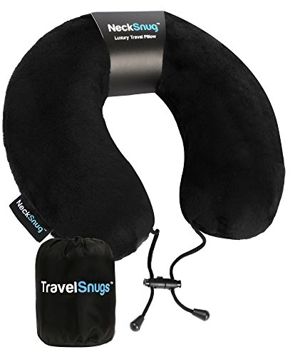 NeckSnug - Luxury Travel Pillow - 100% Memory Foam Neck Pillow for ()