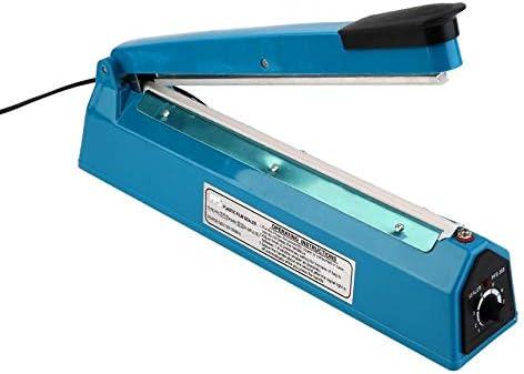 FinukGo Máquina selladora de Bolsas plásticas de plástico eléctrico de 300Mm Impulse Heat Sf-300 Máquina Herramienta de facilitación Manual - Azul